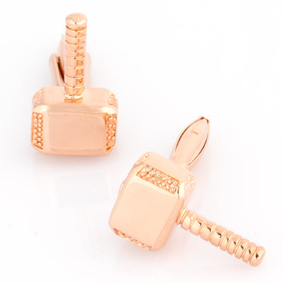 Thor Style Hammer Cufflinks Rose Gold