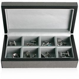 8 Pair Wooden Carbon Fibre Look Storage Box