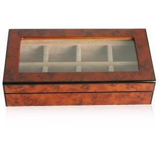 8 Pair Wooden (Elm Burl) Storage Box
