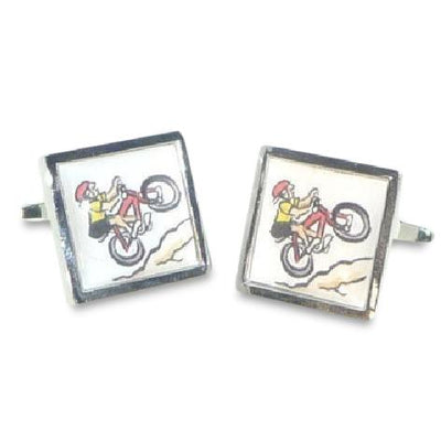 Bicycle Cartoon Cufflinks