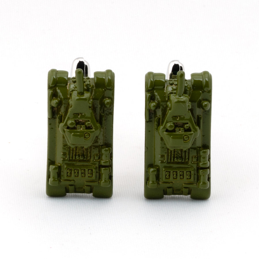Green Army Tank Cufflinks
