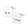 For Sale Sold House Cufflinks