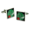 Croquet Black/Green Cufflinks