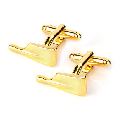 Gold Paddle Oar Cufflinks