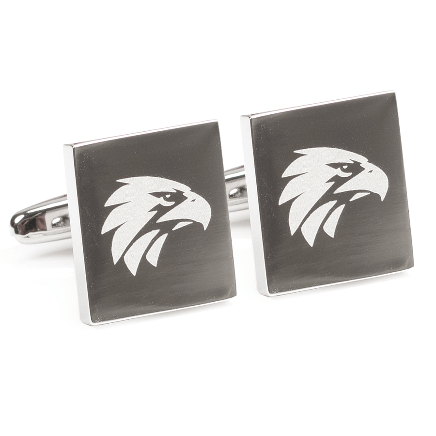 Silver West Coast Eagles AFL Cufflinks