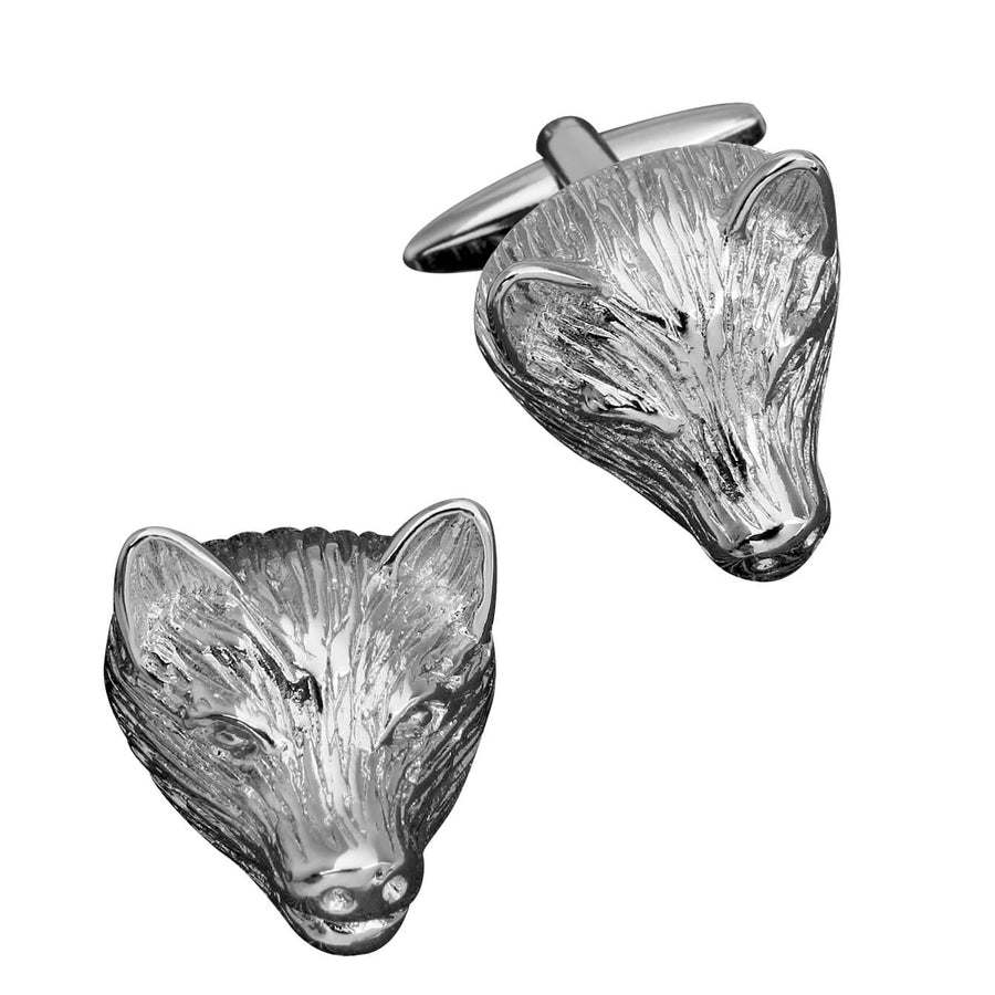 Boar Pig Head Cufflinks