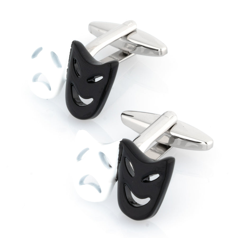 Black and White Mask Cufflinks