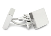Shiny Silver Square Engravable Cufflinks