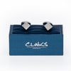Silver Diamond Textured Cube Cufflinks