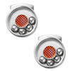 Moving  Ball Bearing Cufflinks Silver