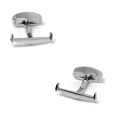 Double Handle Saw Cufflinks