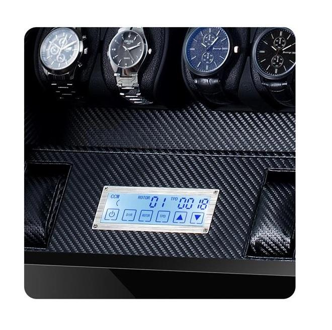 Watch Winder Box for 12 + 2 Watches in Black