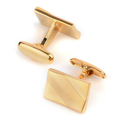 Classic Gold Ridge Cufflinks