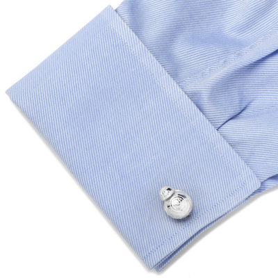 Sterling Silver 3D BB-8 Star Wars Cufflinks