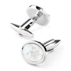 Crystal Mother of Pearl Mosaic Cufflinks