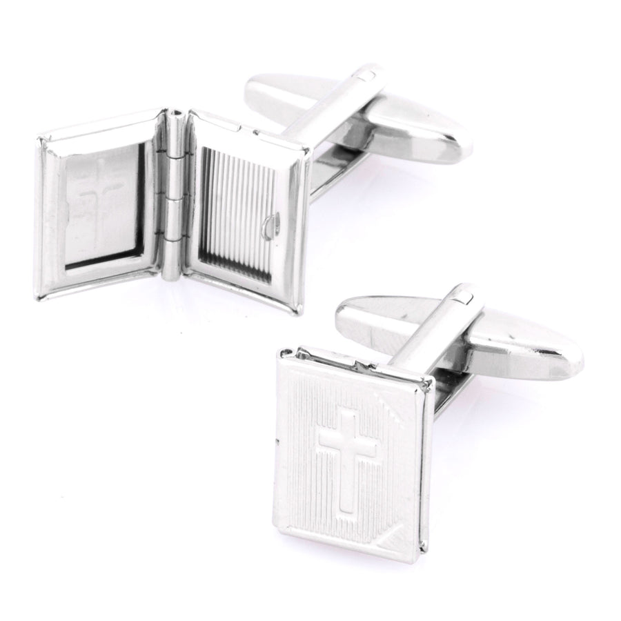 Opening Holy Bible Cufflinks