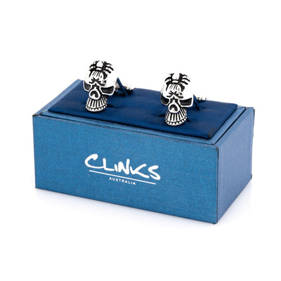 Skull with Spider Cufflinks