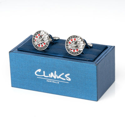 Darts and Board Cufflinks