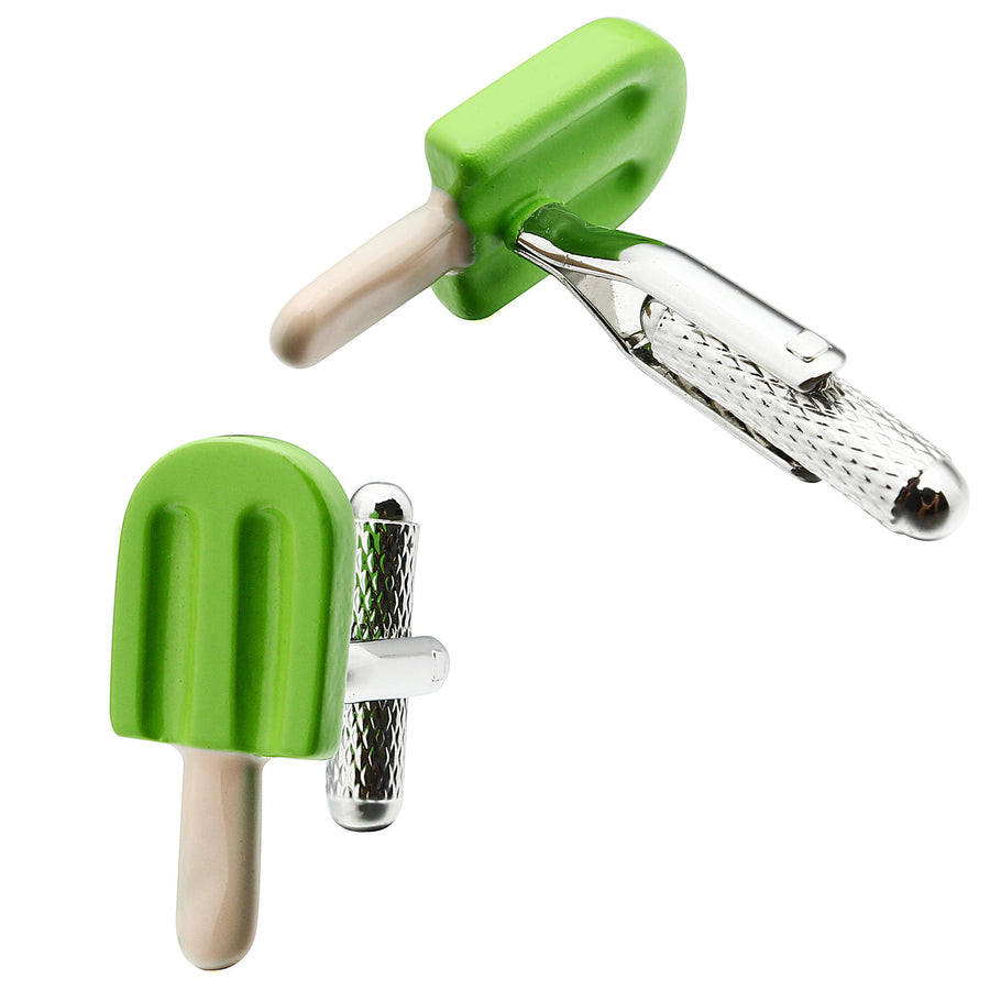 Green Ice Cream Stick Cufflinks