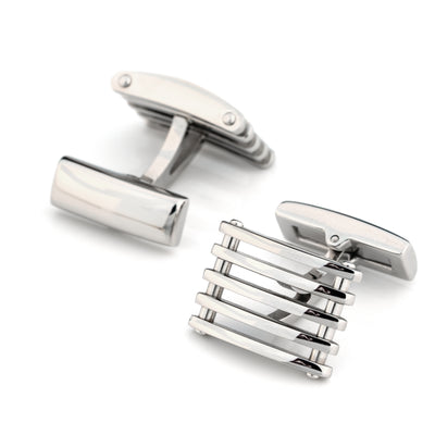 Steel Bar Cufflinks