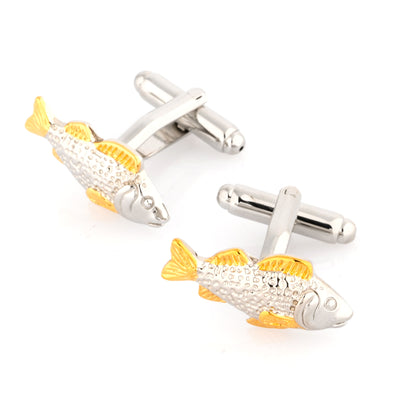 Two Tone Carp Fish Cufflinks