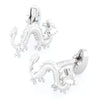 Silver Lucky Chinese Dragon Cufflinks