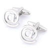 """You've Got Mail"" Silver @ at Sign Cufflinks"