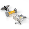 Tennis Racquet and Balls Cufflinks