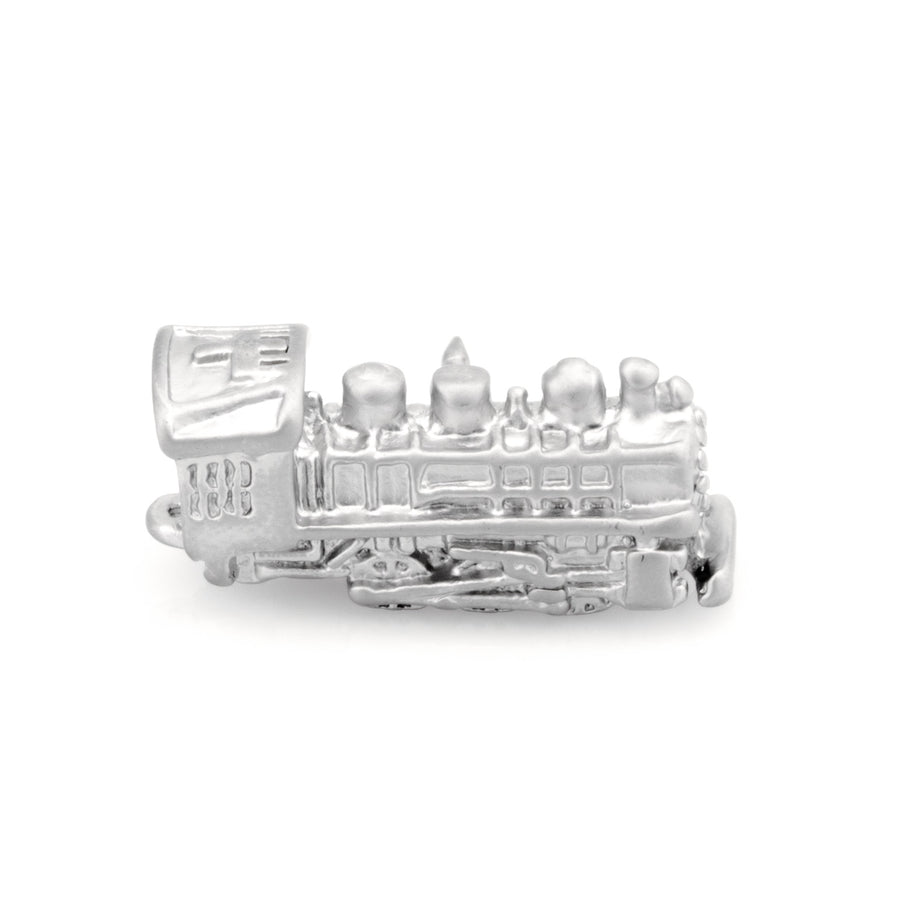 Train Lapel Pin - Silver