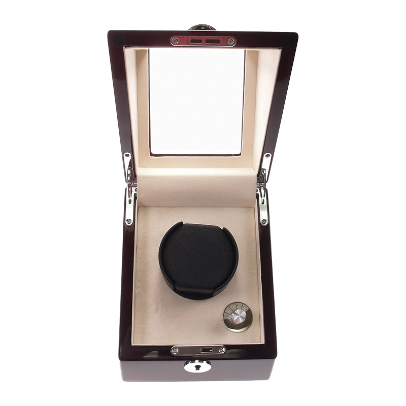 Watch Winder Box for 1 Watch in Mahogany
