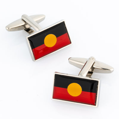 Australian Aboriginal Flag Cufflinks