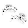 Silver Greyhound Racing Dog Cufflinks