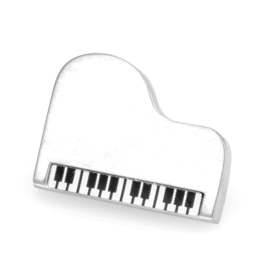 Silver Piano Lapel Pin