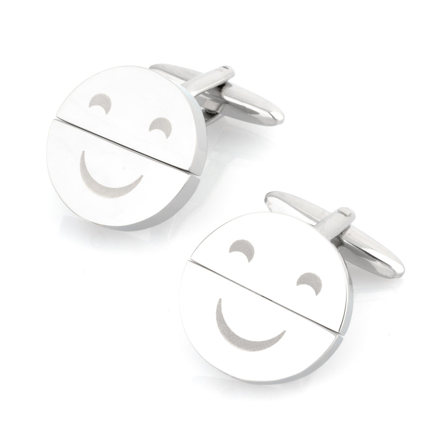 Happy Sad Face Twist Cufflinks