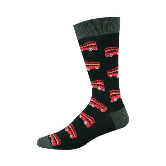 Mens Double Decker Bus Sock