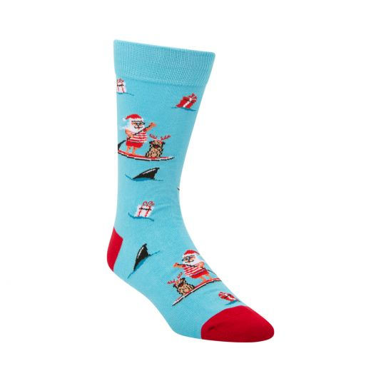 Mens Summer Santa Sock