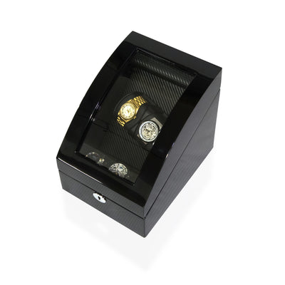 Watch Winder Box for 2+3 Watches in Black