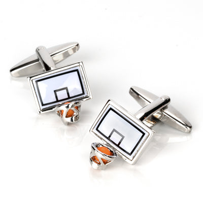 Basketball Backboard and Ring Cufflinks