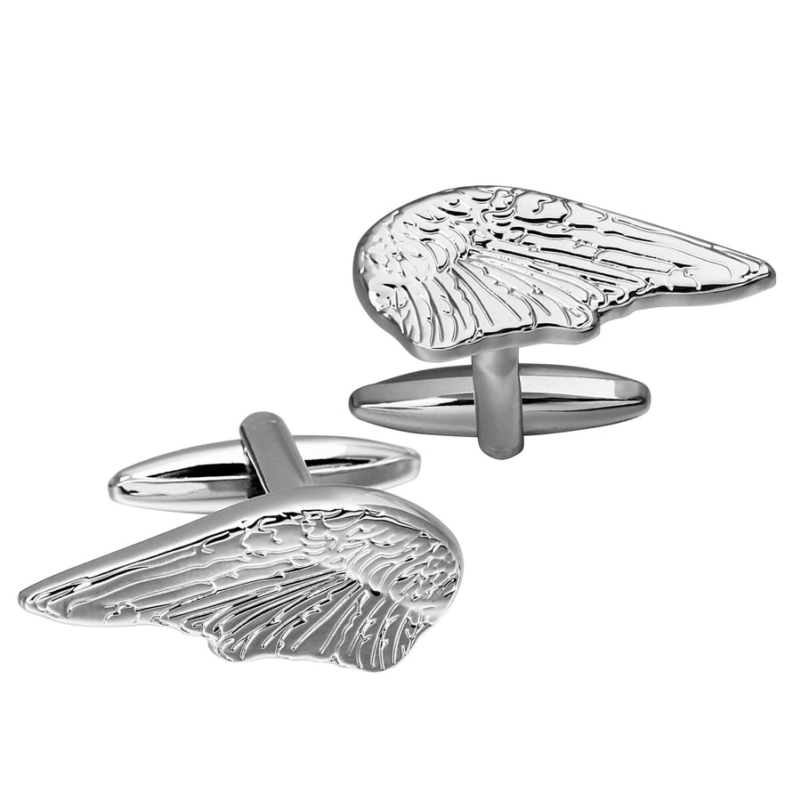 Pair of Angel Wings Silver Cufflinks