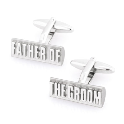 Father of the Groom Raised Lettering Wedding Cufflinks