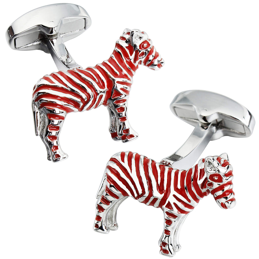 Red Zebra Cuffllinks