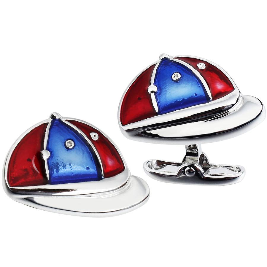 Red & Blue Horse Racing Jockey Caps