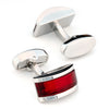 Ruby Red Cateye Cufflinks