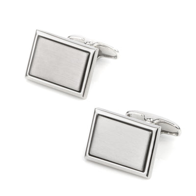 Plain Engravable Rectangle Cufflinks