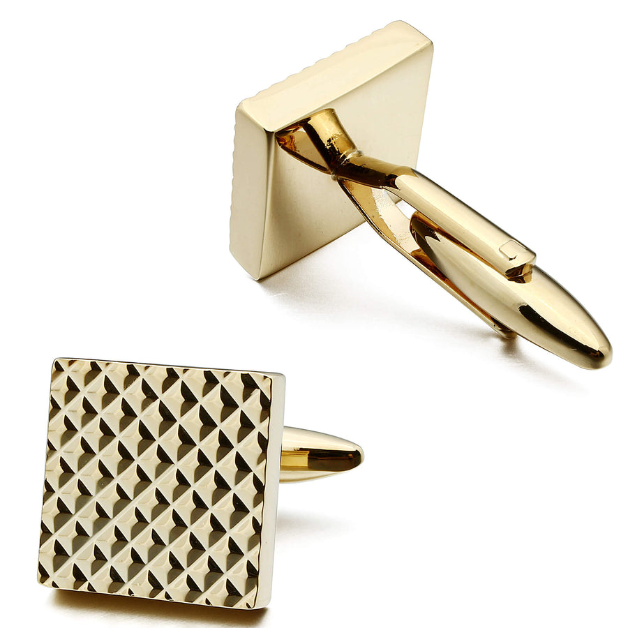 Textured Gold Square Cufflinks