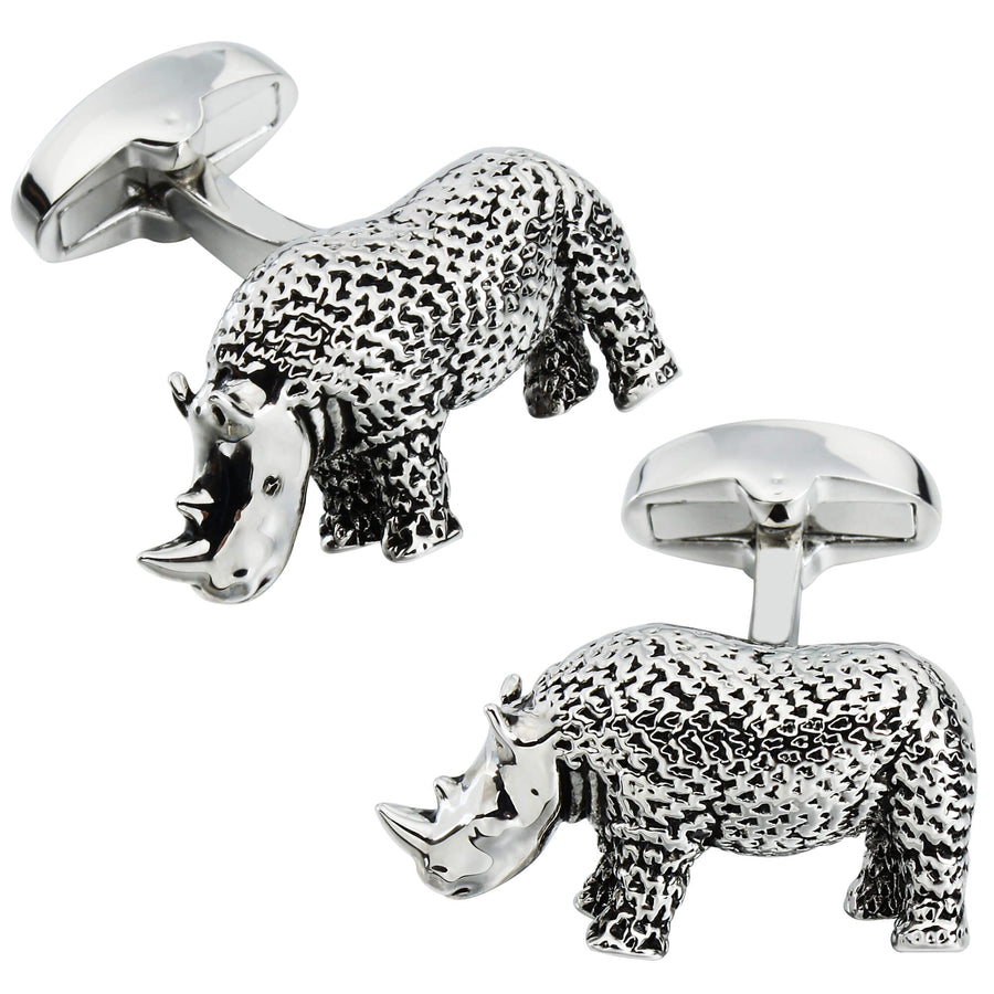 Textured Rhino Cufflinks