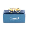 Gold Spectacles Tie Clip