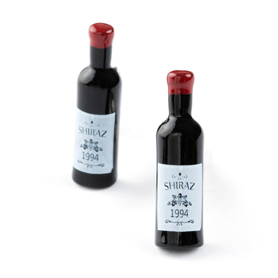Shiraz Red Wine Bottle Cufflinks