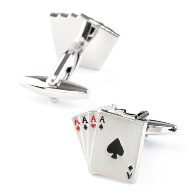 """Poker Ace"" Playing Cards Cufflinks"
