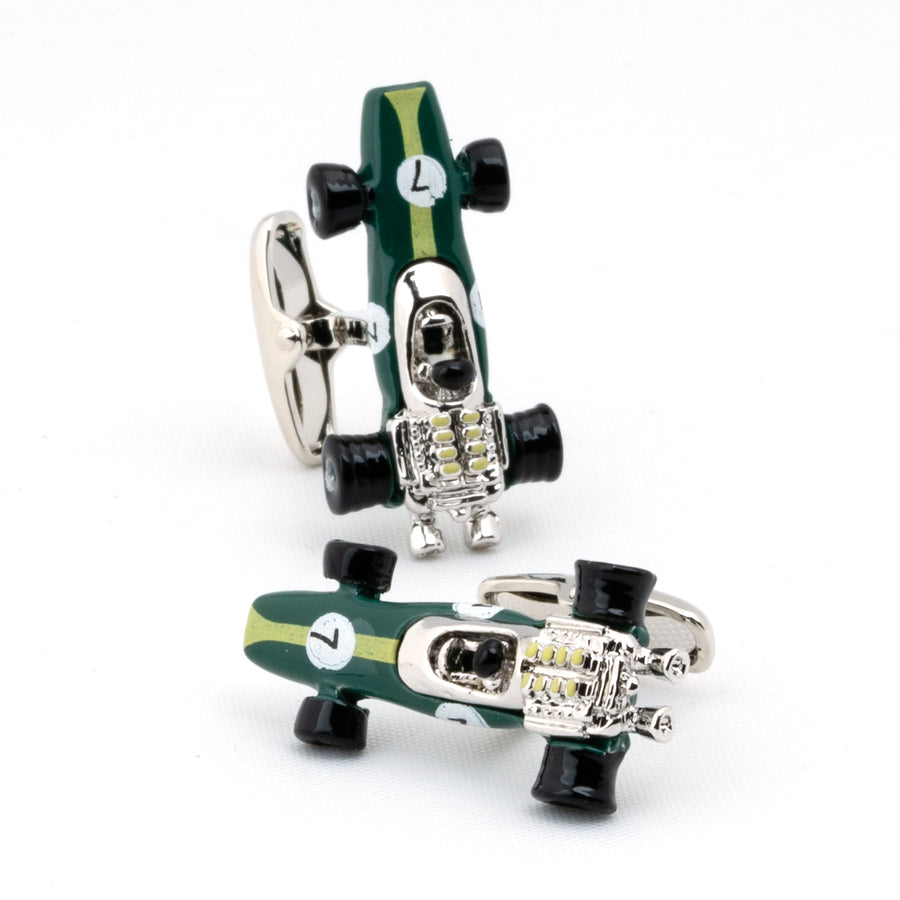 Green Lotus Racing Car Cufflinks Type 49 1967